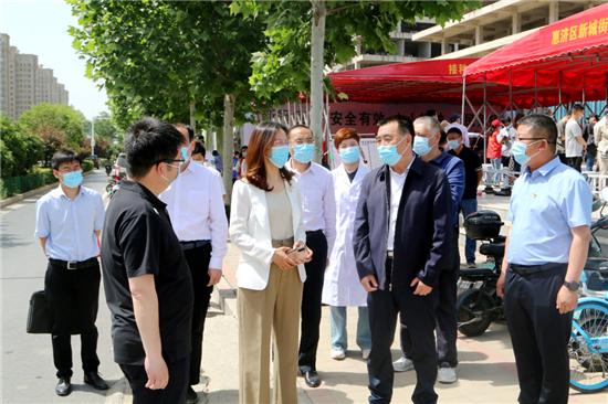 杨福平到郑州市惠济区调研督导新冠疫苗接种工作