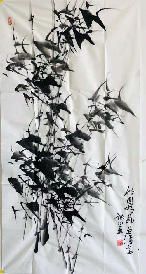 【翰墨颂党恩·丹青绘百年】投稿 郝冰川《竹因有节更清高》