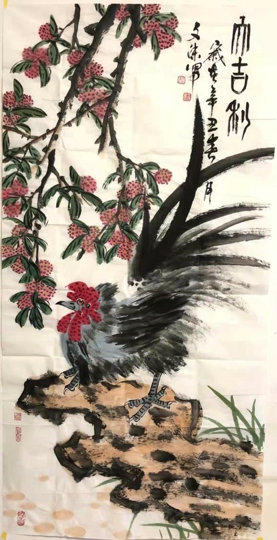 【翰墨颂党恩·丹青绘百年】投稿 王瑞星花鸟作品《醉太平》