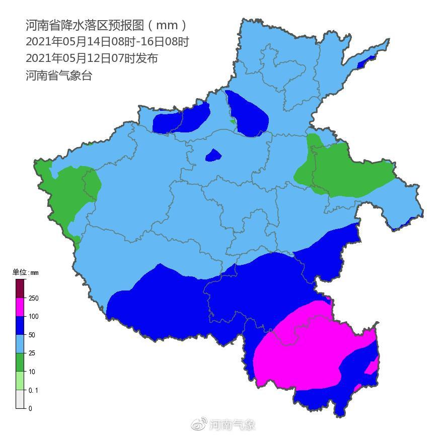 5月14-15日河南省大部有明显降水 请注意防范!