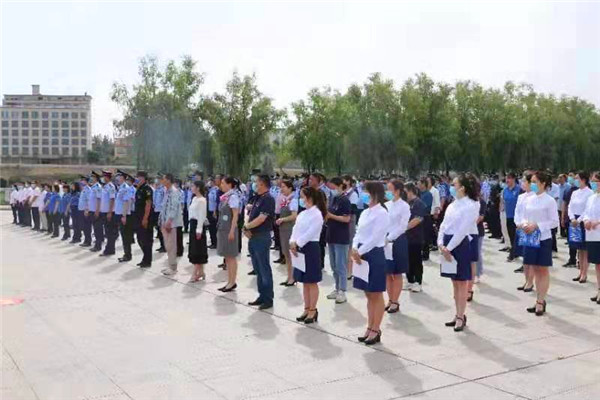 南召县举行防范电信网络诈骗犯罪集中宣传月活动
