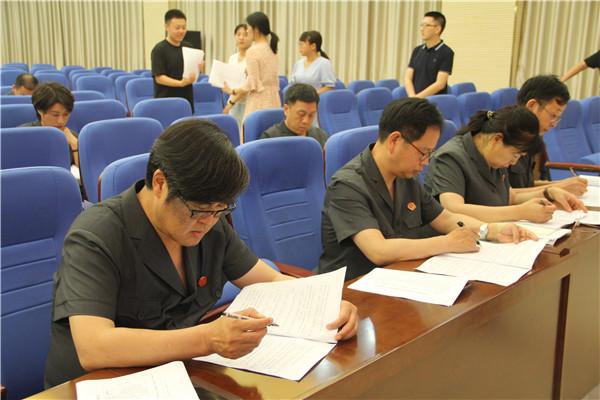 南阳卧龙区政法单位队伍建设专项巡查第一巡查组巡查区法院党组动员会议召开