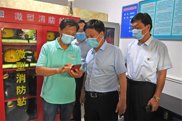 周斌在督导检查消防安全工作时强调:树牢安全发展理念 压实安全生产责任