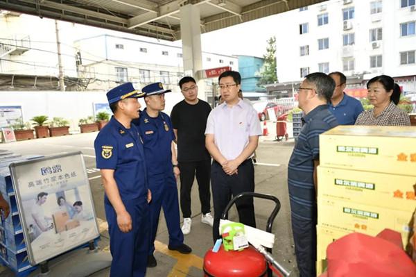 南阳市副市长范勇带队开展消防安全检查工作