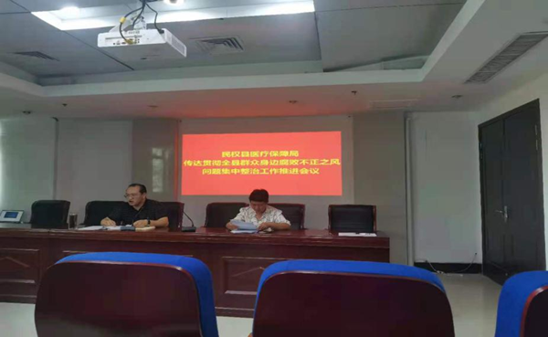 民权县医疗保障局 传达贯彻全县群众身边腐败不正之风 问题集中整治工作推进会议