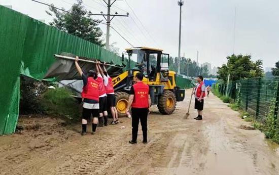 浙江一爱心公司杭州经纬度贸易有限公司支援郑州高新区石佛办事处