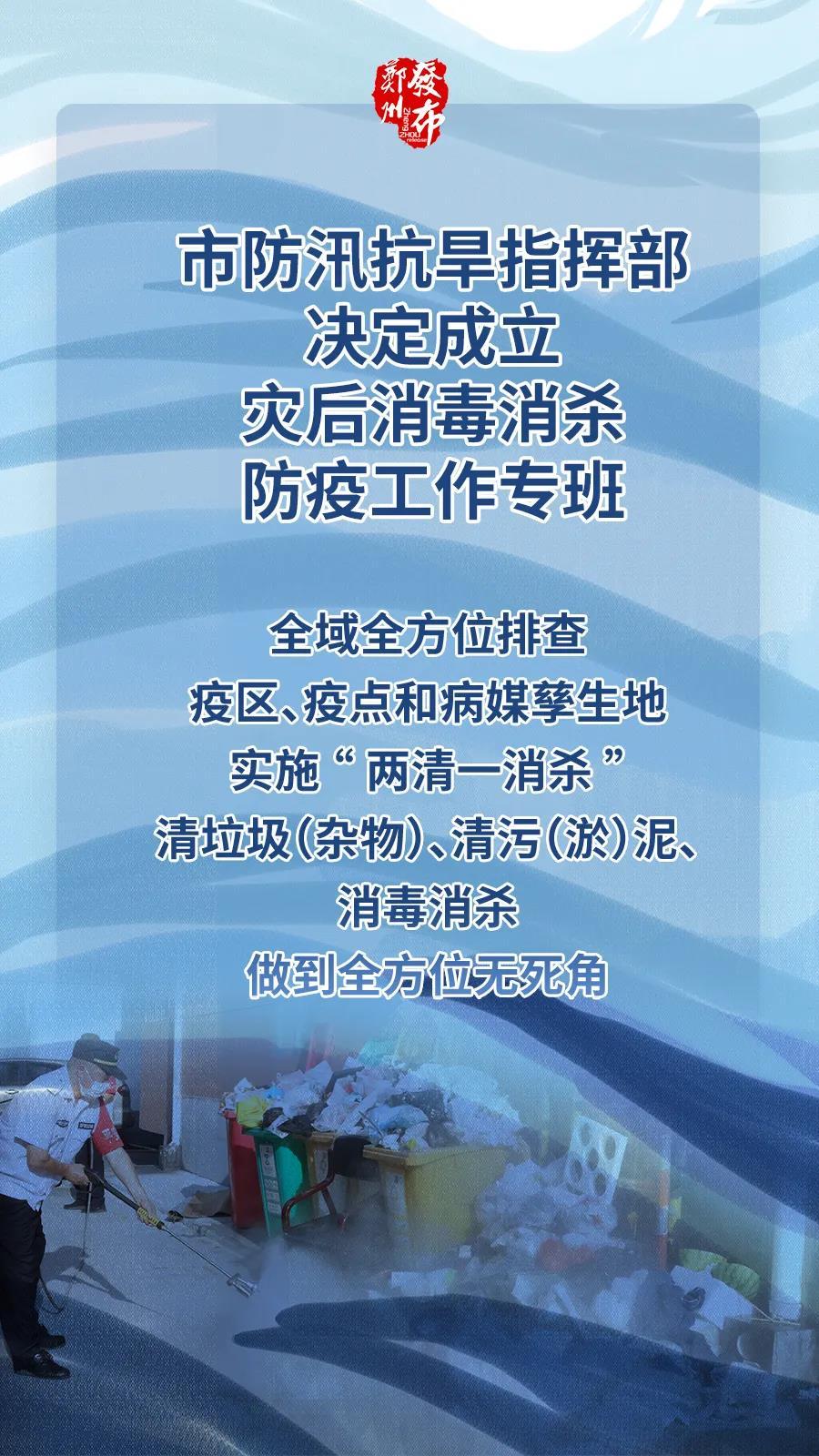 """全方位无死角!郑州市全面开展灾后""""两清一消杀"""""""