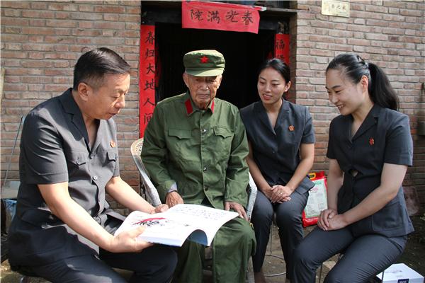 """宁陵县法院慰问老军人献礼""""八一""""建军节"""