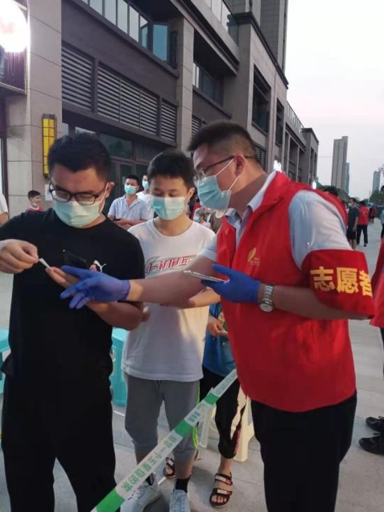 红色物业助力核酸检测,筑牢疫情防控安全防线
