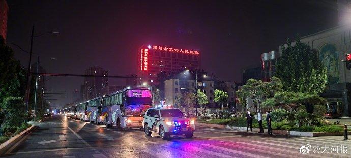 8月4日凌晨郑州六院连夜转移医护1000余人
