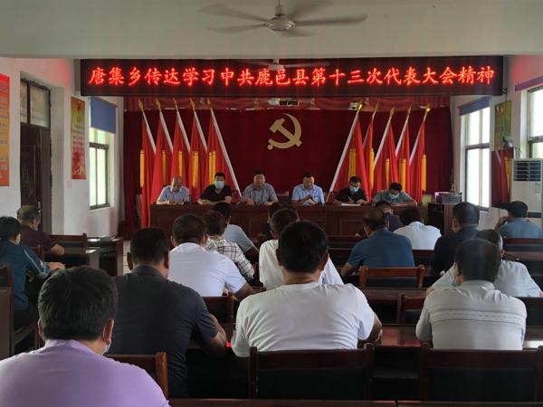 唐集乡迅速传达学习贯彻县第十三次党代会精神