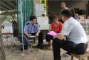 新野县公安局党委副书记、政委杨少峰深入城郊乡张楼村走访群众