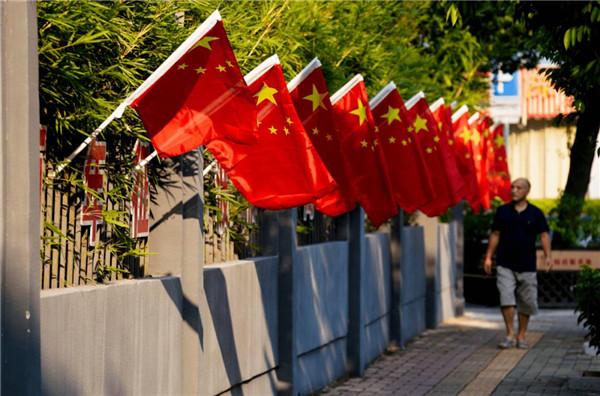 """河南社旗:""""中国红""""为祖国庆生"""