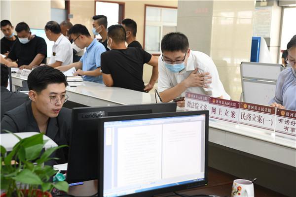 """优化窗口建设 提升服务水平——唐河县法院开展""""窗口单位服务水平提升""""专项活动"""