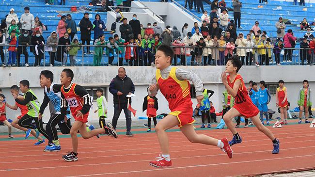 开封:中小学田径运动会上展风采