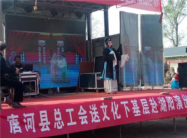 唐河湖阳镇开展送文化下基层活动